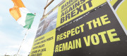 An anti Brexit sign in the village of Jonesborough, on the border between Dundalk in the Republic of Ireland and Newry in Northern Ireland.