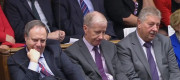 DUP MPs Nigel Dodds, Gregory Campbell, and Sammy Wilson