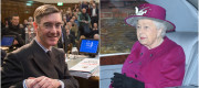 Jacob Rees-Mogg and Queen Elizabeth II