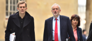 Seumas Milne and Jeremy Corbyn