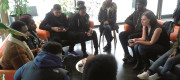 Vicky Foxcroft meeting with young people in Lewisham Deptford to discuss local youth services