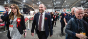 Ian Murray arrives at the Royal Highland Centre, Edinburgh, for the UK Parliamentary General Election count