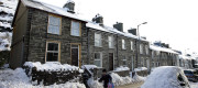 Welsh street in the snow