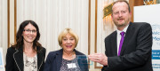 Holden's Supaseal Receive Award, Cheryl Biggs and Carol Pearse and John Agnew