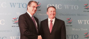 Dr Liam Fox with WTO Director-General Robert Azevêdo