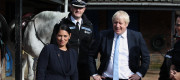 Boris Johnson and Priti Patel