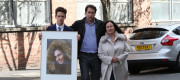 Nadim and Tanya Ednan-Laperouse, with their son Alex, outside West London Coroners Court, following the conclusion of the inquest into the death of Natasha Ednan-Laperouse, 15, from Fulham, who died after she fell ill on a flight from London to Nice after