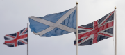 Scottish and union flags
