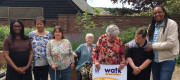 Kemi Badenoch, local MP for Saffron Walden, spending time at a learning disability service in Ugley as part of Hft's Walk in our Shoes campaign.