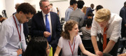 Dr Liam Fox at launch event