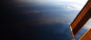 An image of Earth taken from aboard the International Space Station