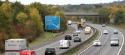A view of the M26 motorway near Wrotham in Kent as work begins to create a holding area for lorries in order to ease potential gridlock, amid concerns that a no-deal Brexit may result in delays at the nearby port of Dover.