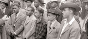 "Newly arrived passengers from the ""Empire Windrush"", Tilbury, 22 June 1948"
