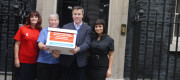 Back your local bookie petition being delivered to 10 Downing Street