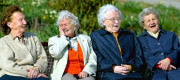 Older women on a park bench