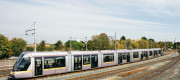 Alstom's longest ever Citadis tram, ready for testing in Dublin