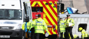 Emergency services attend a road traffic accident