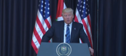 Donald Trump speaks in Bethlehem about the Manchester terror attack