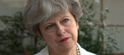 Theresa May speaking to Sky News in Japan