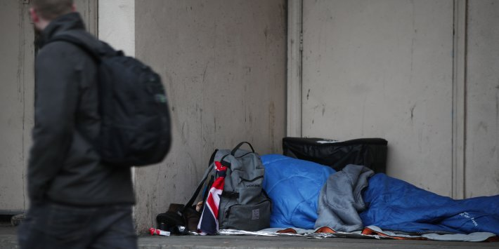 No New Cash Behind Government Rough Sleeping Strategy Minister Admits