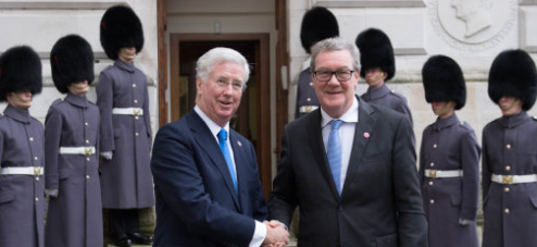 Australian High Commissioner Andrew Downer, pictured with Defence Secretary Michael Fallon