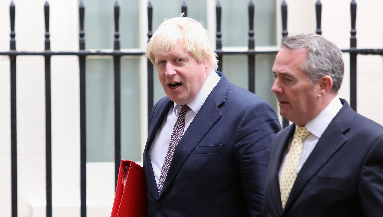Boris Johnson and Liam Fox outside Downing Street