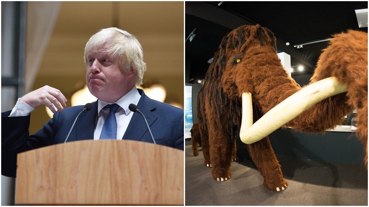 Boris Johnson and wooly mammoth