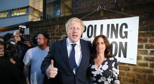 Boris Johnson and wife Marina Wheeler