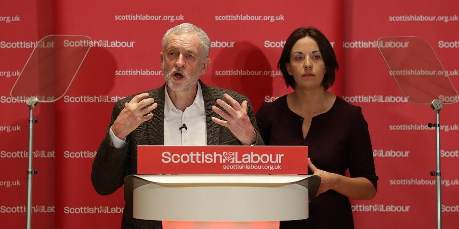 Jeremy Corbyn and Kezia Dugdale