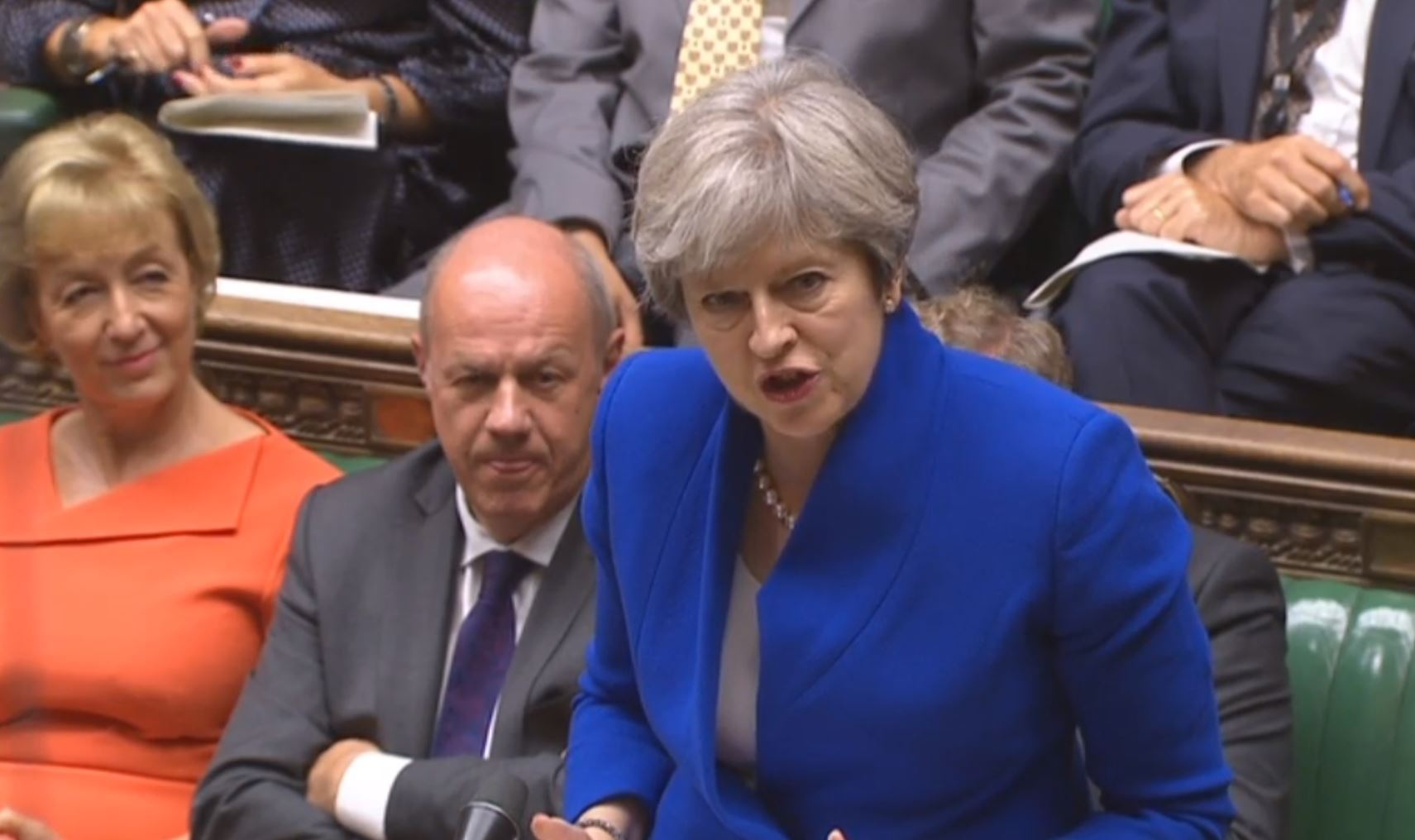 Theresa May taking Prime Minister's Questions