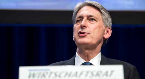 Philip Hammond makes a speech at the CDU Economic Council in Berlin