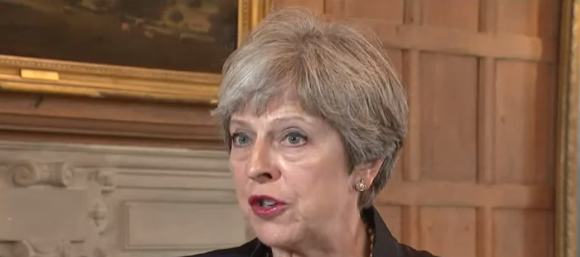 Theresa May speaking from Downing St