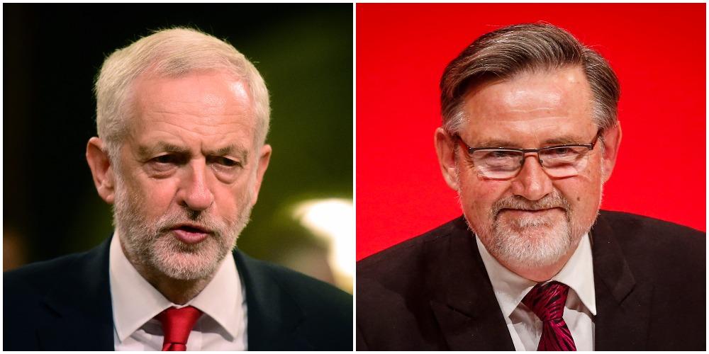 Jeremy Corbyn and Barry Gardiner