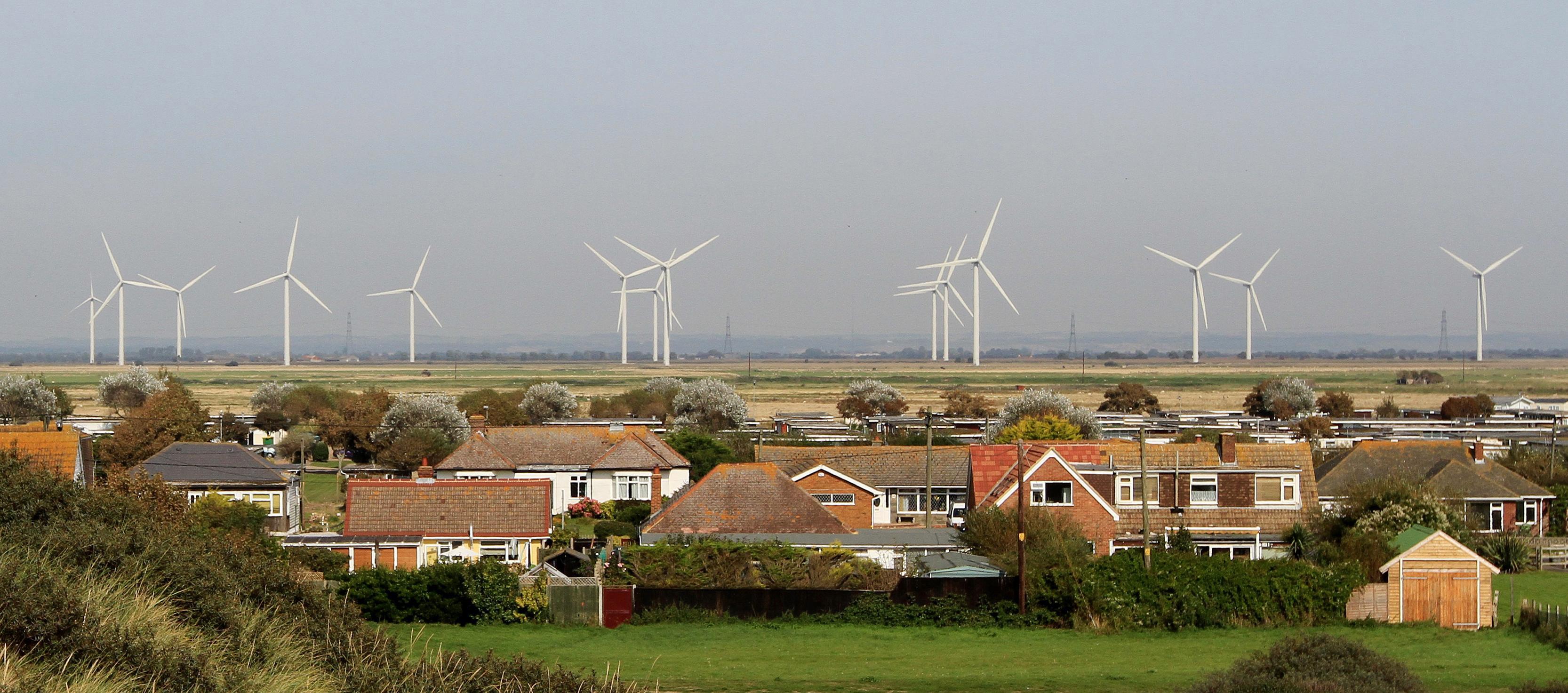 Wind farm on Romney Marsh in Kent