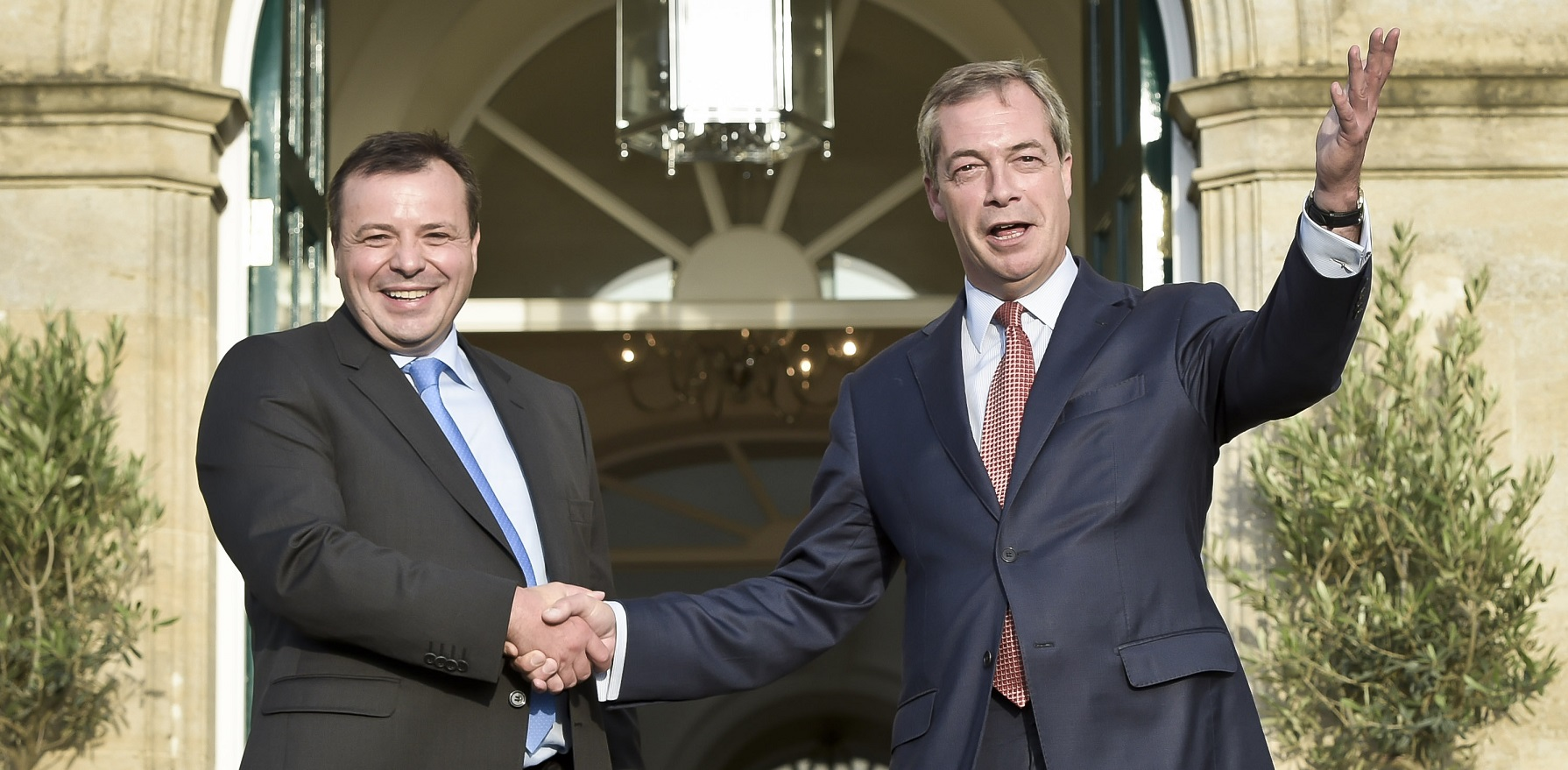 Arron Banks and Nigel Farage in 2014