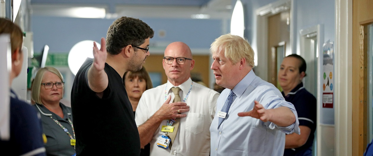 Boris Johnson at Whipps Cross University Hospital