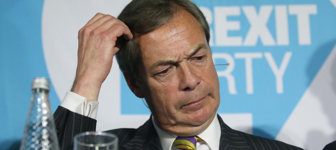 Brexit Party leader Nigel Farage