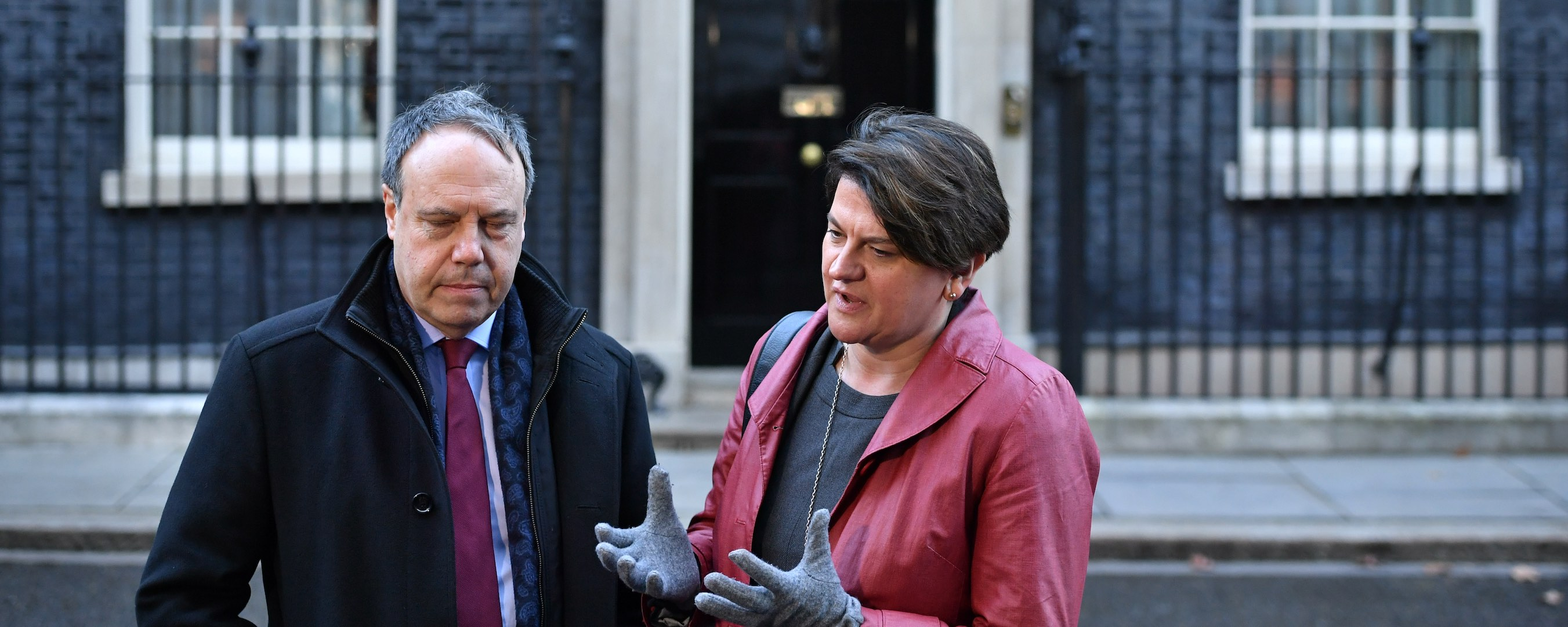 The DUP's Nigel Dodds and Arlene Foster.