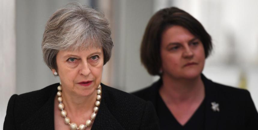 Theresa May and Arlene Foster