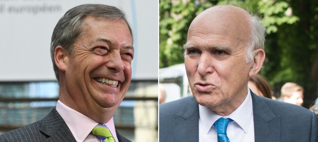 Nigel Farage and Vince Cable