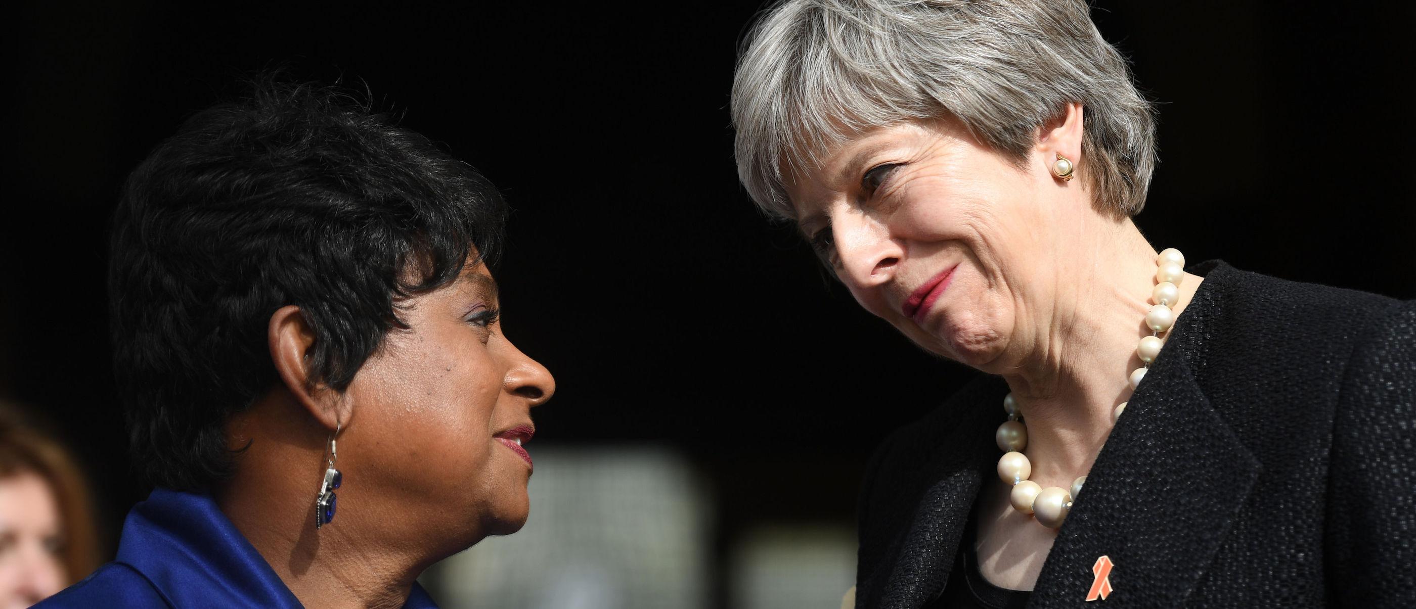 Baroness Lawrence and Theresa May