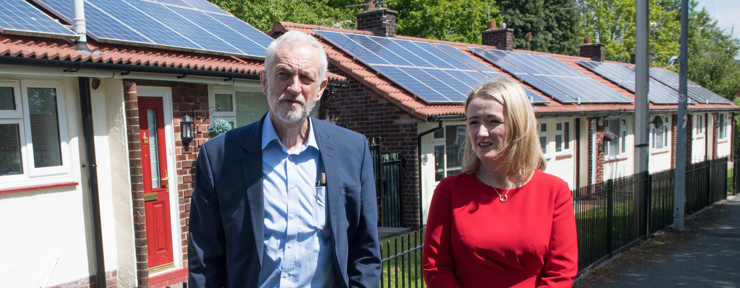 Jeremy Corbyn and Rebecca-Long Bailey