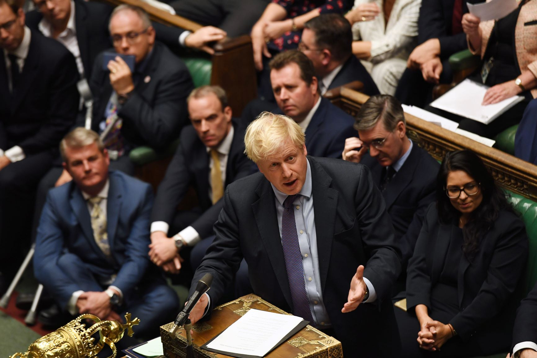 Prime Minister Boris Johnson Addresses the House of Commons from the Despatch Box