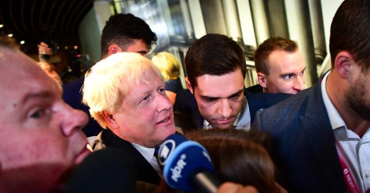 Ross Thomson and Boris Johnson