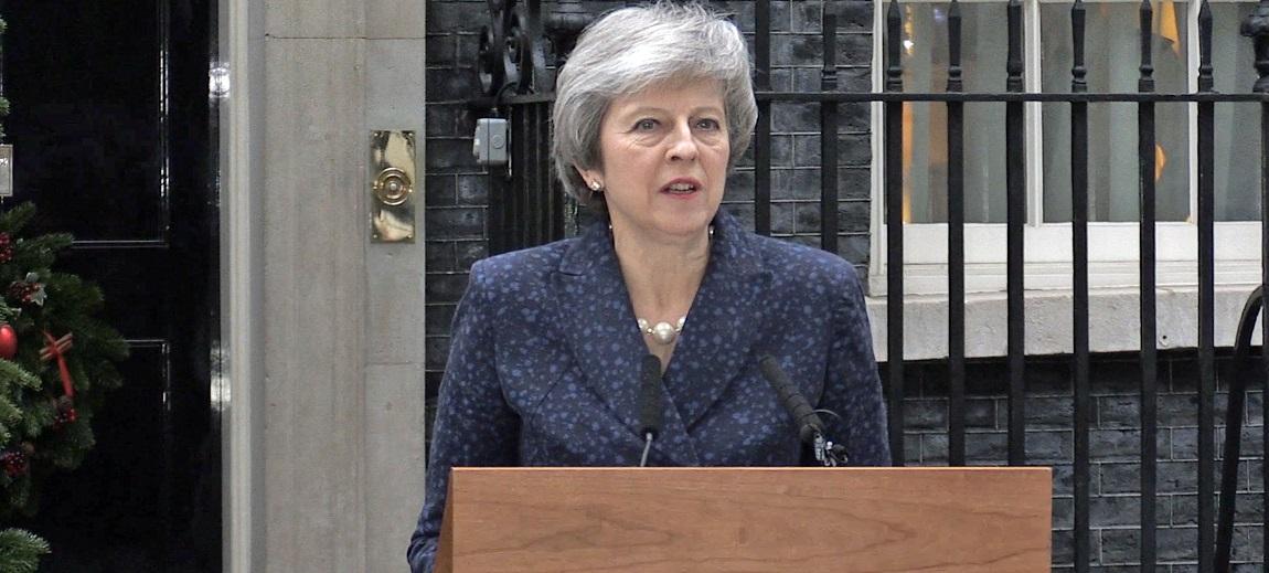 Theresa May on Downing Street