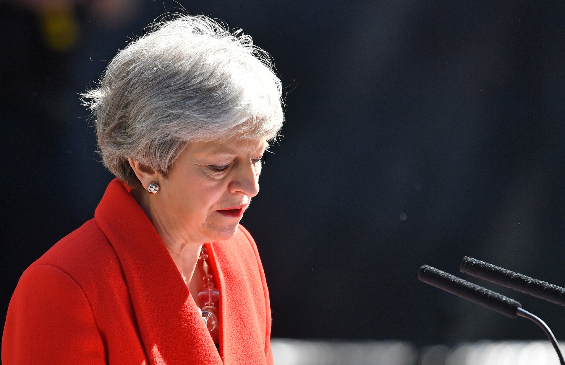 Theresa May sets our her departure