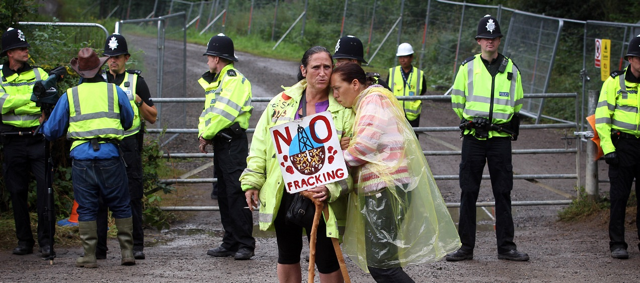 Anti-fracking protesters