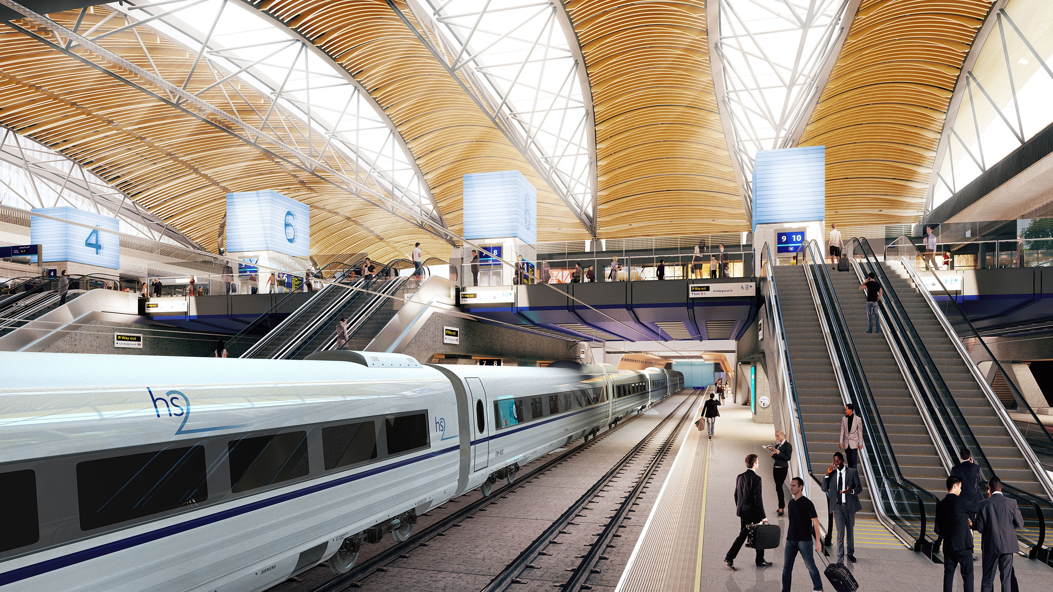 Undated artist impression issued by HS2 of the proposed HS2 station at Euston.