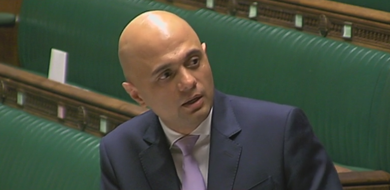 Sajid Javid in the House of Commons 22/02/17