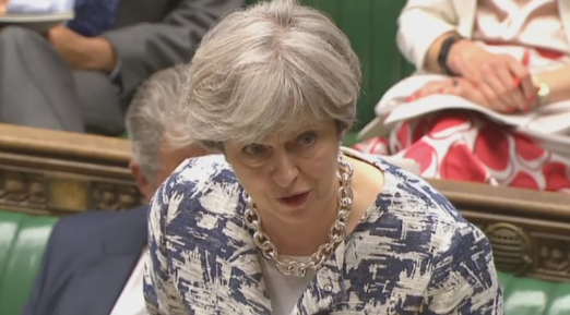 Theresa May in the House of Commons, 26/06/17
